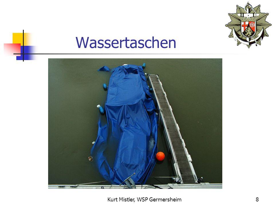 Kurt Mistler, WSP Germersheim7 Wassereinlauf Größere Eintauchtiefe (Zusatzgewicht: Regenwasser, Schnee, Eis) Gefahr durch Wassertaschen bei Persenning.