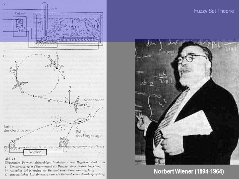 Norbert Wiener (1894-1964) Fuzzy Set Theorie