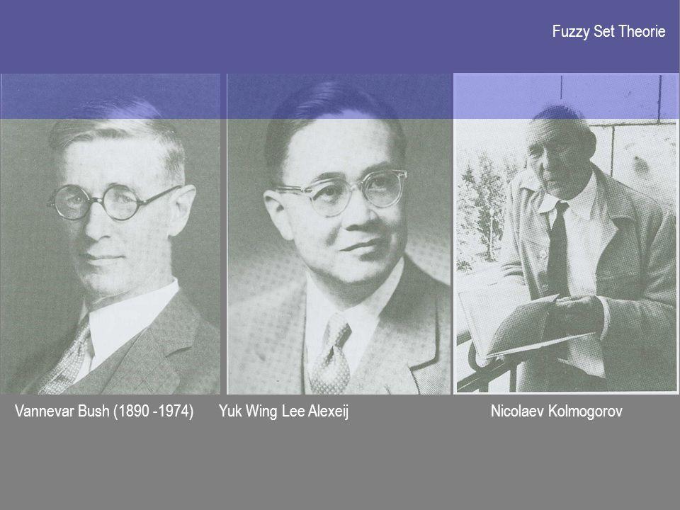Vannevar Bush (1890 -1974)Yuk Wing Lee Alexeij Nicolaev Kolmogorov Fuzzy Set Theorie