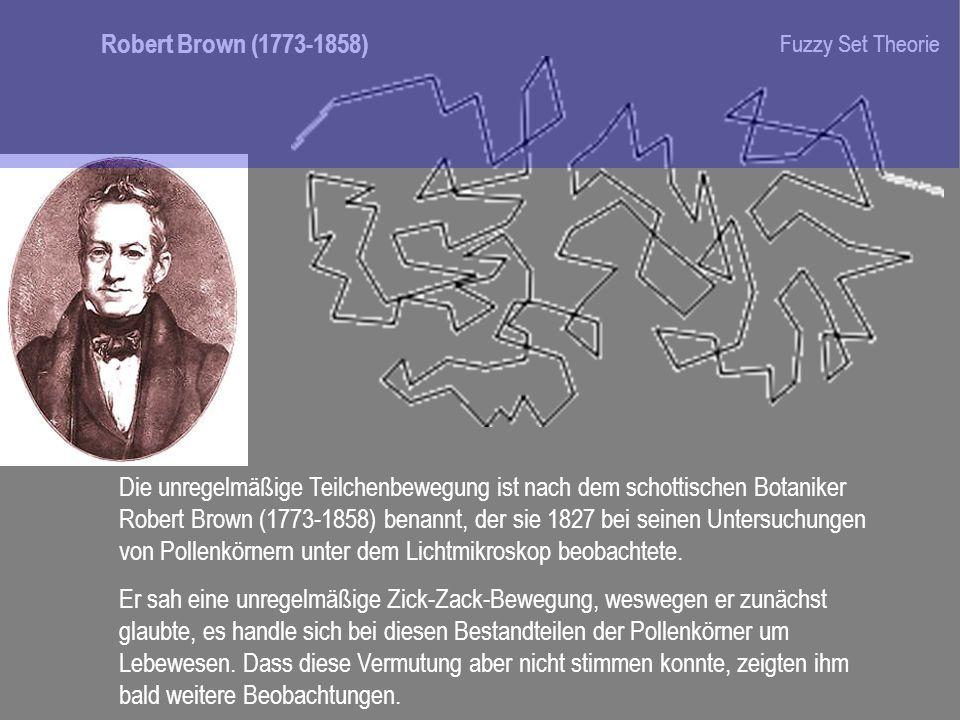 Die unregelmäßige Teilchenbewegung ist nach dem schottischen Botaniker Robert Brown (1773-1858) benannt, der sie 1827 bei seinen Untersuchungen von Po