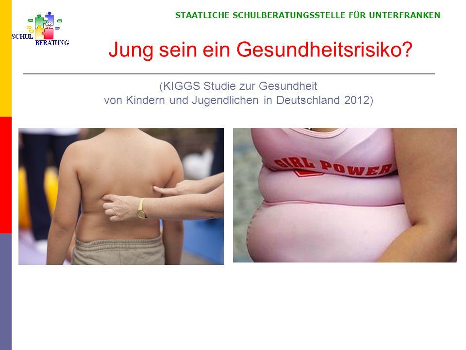 STAATLICHE SCHULBERATUNGSSTELLE FÜR UNTERFRANKEN Jung sein ein Gesundheitsrisiko? (KIGGS Studie zur Gesundheit von Kindern und Jugendlichen in Deutsch