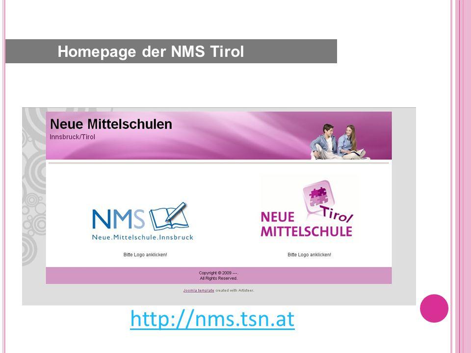 http://nms.tsn.at Homepage der NMS Tirol
