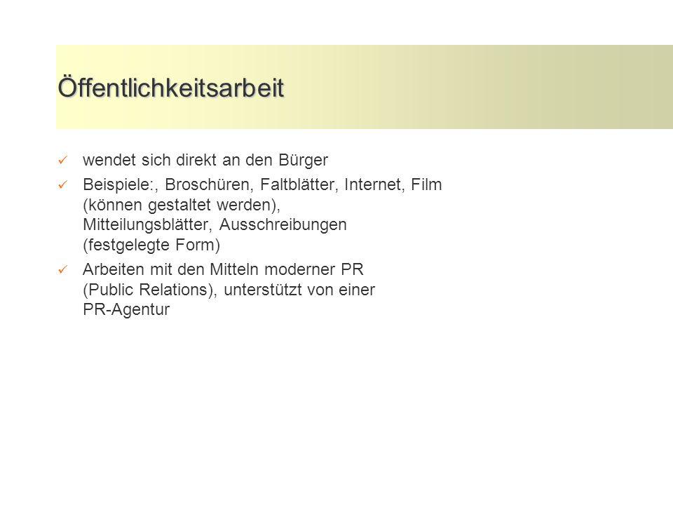 Presse- und Öffentlichkeitsarbeit in der öffentlichen Verwaltung 18.