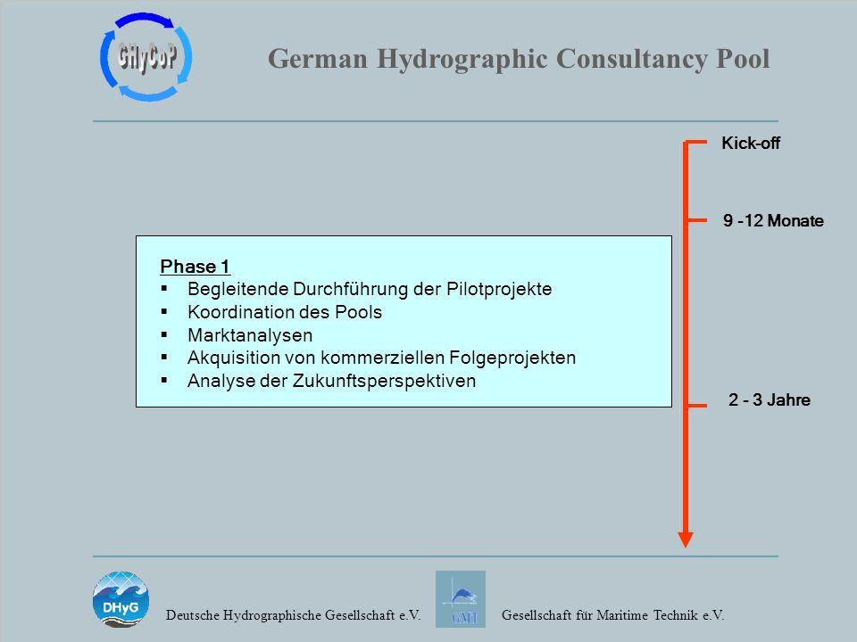 German Hydrographic Consultancy Pool Deutsche Hydrographische Gesellschaft e.V.Gesellschaft für Maritime Technik e.V. Phase 1 Begleitende Durchführung