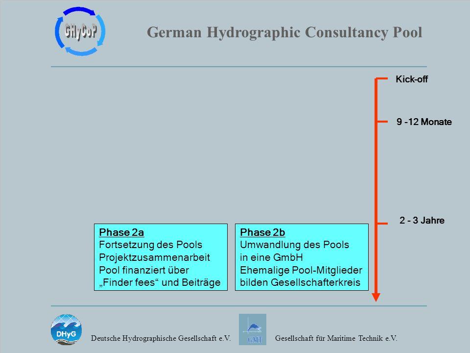 German Hydrographic Consultancy Pool Deutsche Hydrographische Gesellschaft e.V.Gesellschaft für Maritime Technik e.V. Phase 2a Fortsetzung des Pools P