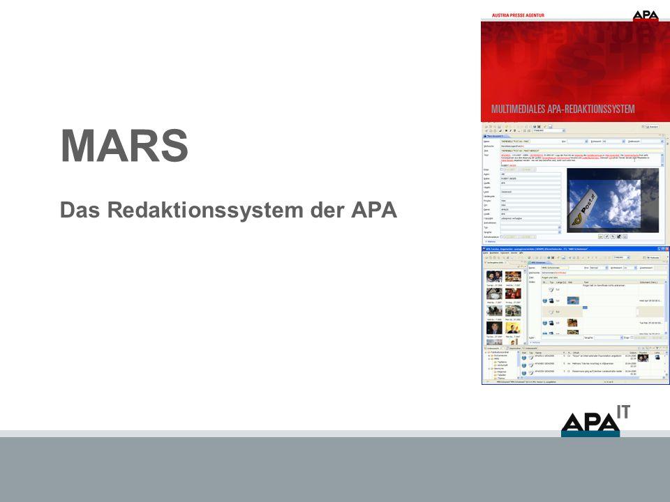MARS Das Redaktionssystem der APA