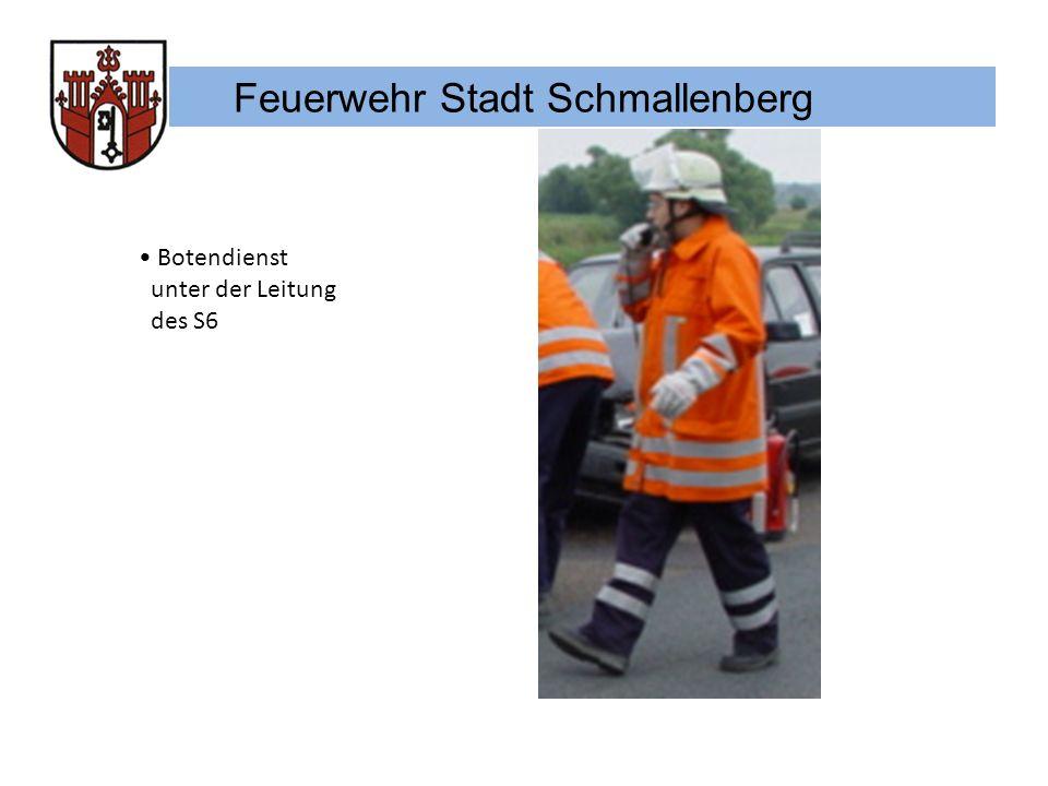 Feuerwehr Stadt Schmallenberg 6 Botendienst unter der Leitung des S6