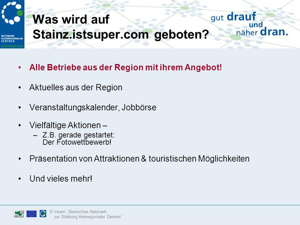 © Verein Steirisches Netzwerk zur Stärkung kleinregionaler Zentren Was www.istsuper.com.