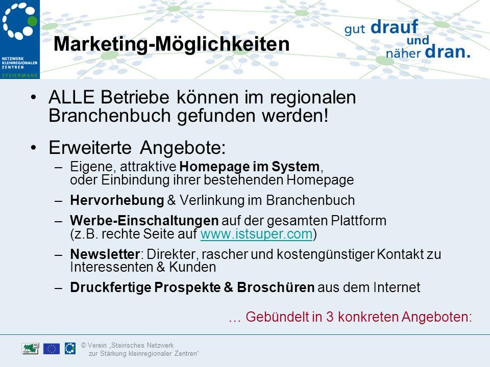 © Verein Steirisches Netzwerk zur Stärkung kleinregionaler Zentren Hohe Besucherzahlen für ihre Homepage.