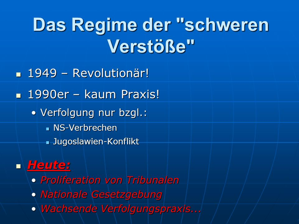Das Regime der schweren Verstöße 1949 – Revolutionär.