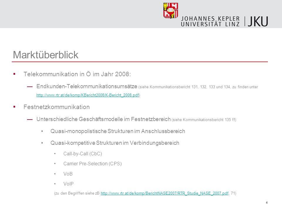 35 Telekommunikation in Ö TKG 2003 (BGBl I 2003/70 idF BGBl I 2009/65) 1.