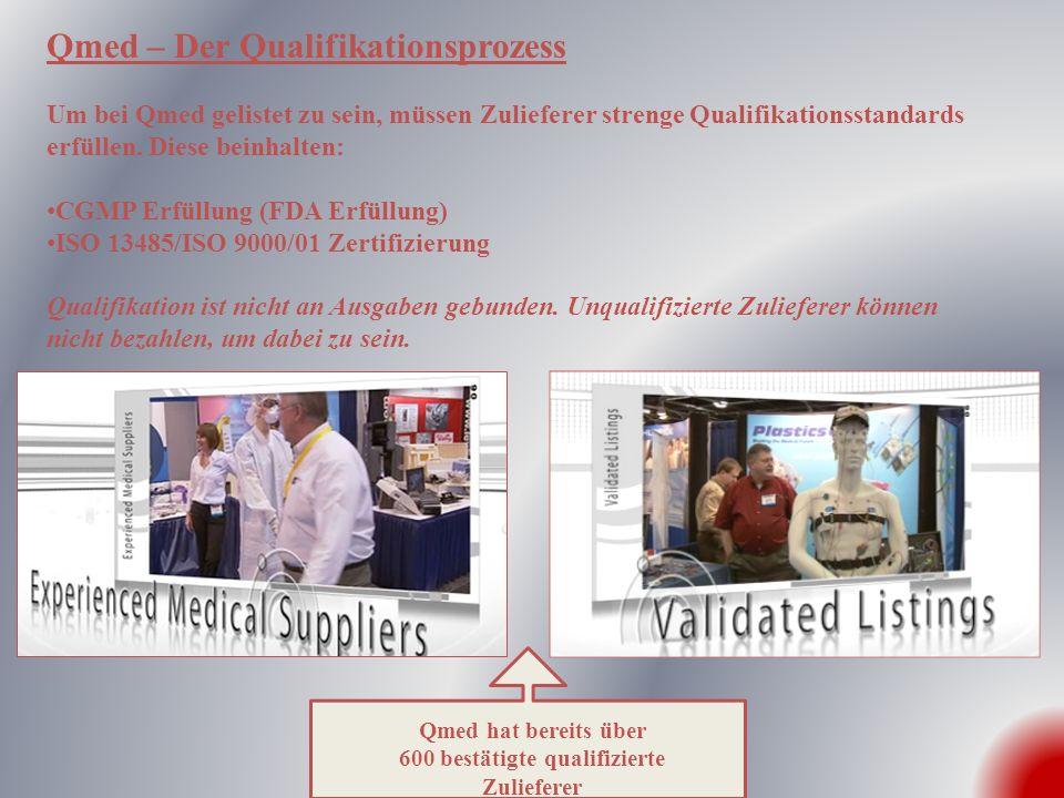 Qualifizierte Zulieferer = Qualifizierte Besucher Qmed wurde auf Publikumsanfragen hin ins Leben gerufen.