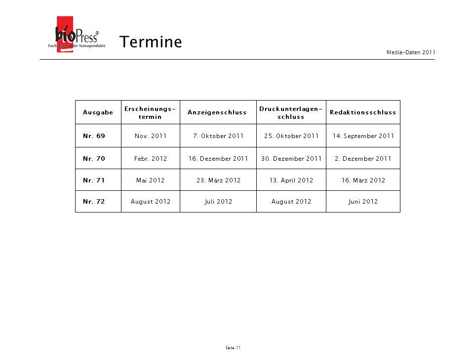 Seite 11 Termine ® Media-Daten 2011