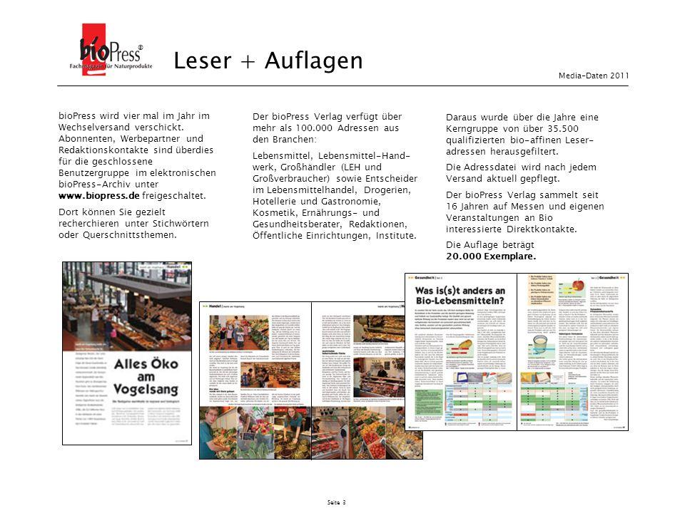 Seite 14 Ziffer 15 Der Verlag liefert auf Wunsch einen Anzeigenbeleg.
