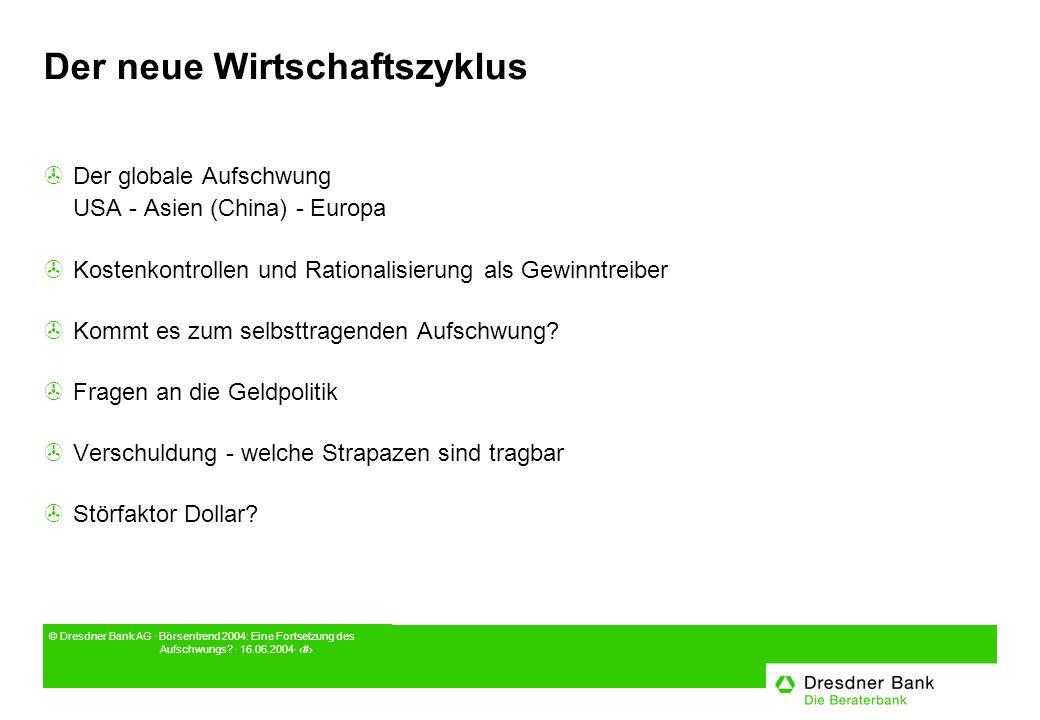 © Dresdner Bank AG · Börsentrend 2004: Eine Fortsetzung des Aufschwungs.