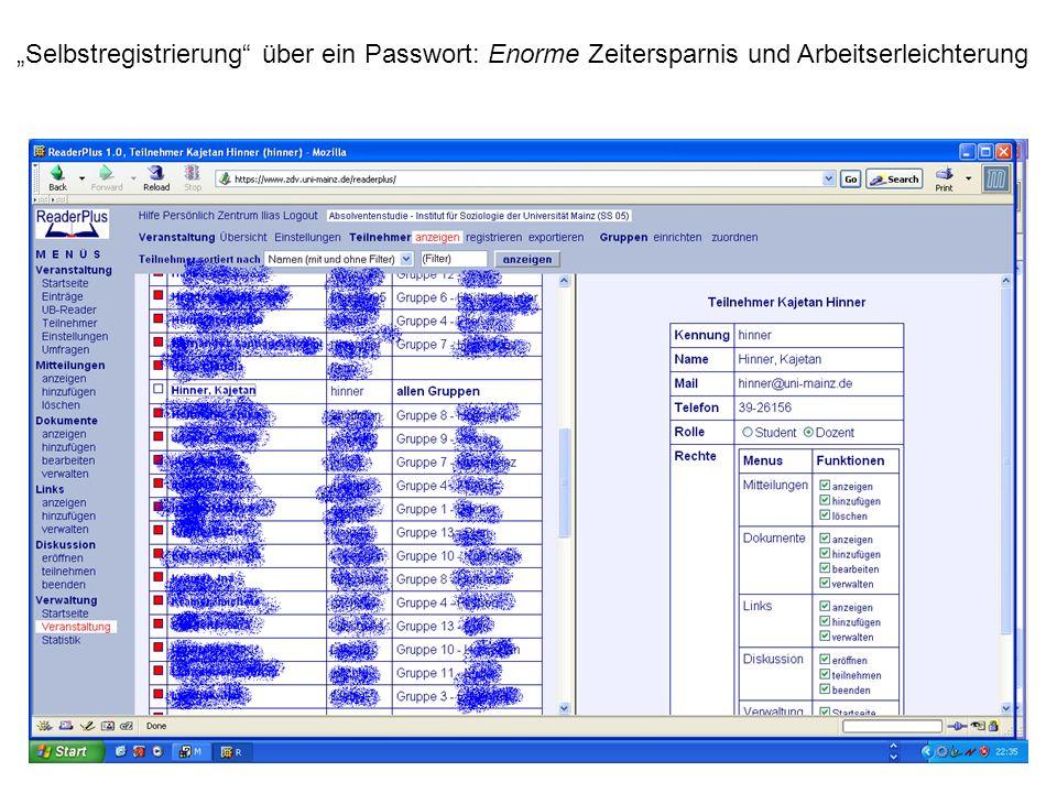 Selbstregistrierung über ein Passwort: Enorme Zeitersparnis und Arbeitserleichterung
