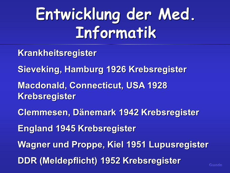 Entwicklung der Med.