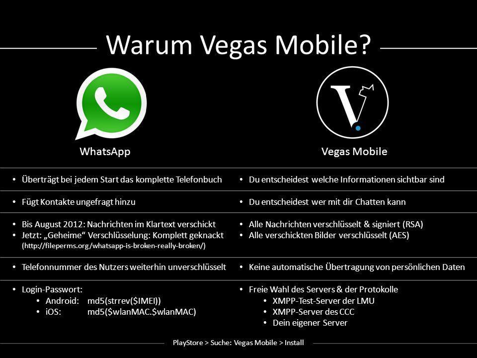 Vegas Mobile Basics PlayStore > Suche: Vegas Mobile > Install