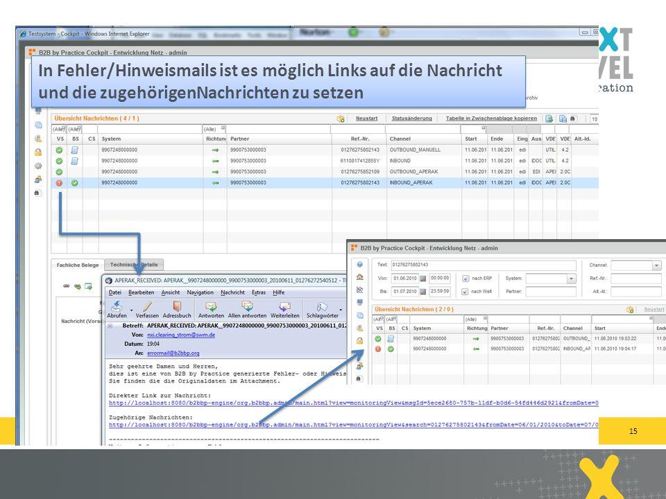 15 next-level-integration.com | next level portals – next level search – next level ccm – b2b by practice In Fehler/Hinweismails ist es möglich Links