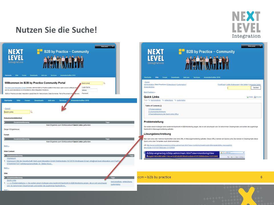 6 Nutzen Sie die Suche! next-level-integration.com | next level portals – next level search – next level ccm – b2b by practice