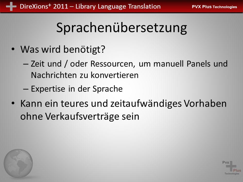 DireXions + 2011 – Library Language Translation Alle Bibliotheken