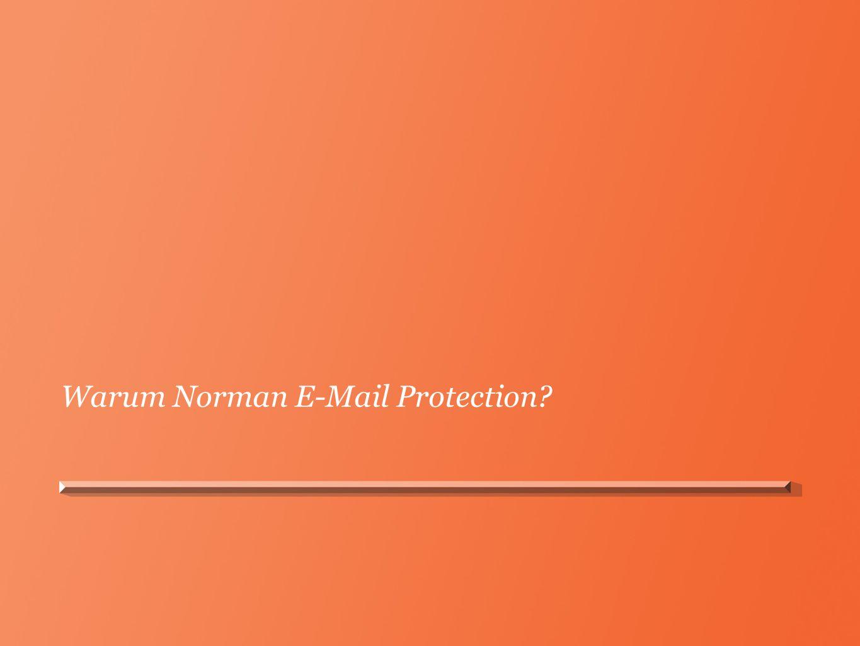 E-Mail Protection Gateway Lokale Installation – volle Kontrolle Filterung eingehender und ausgehender E-Mails Unbedenkliche E-Mails werden an Empfänger weitergeleitet