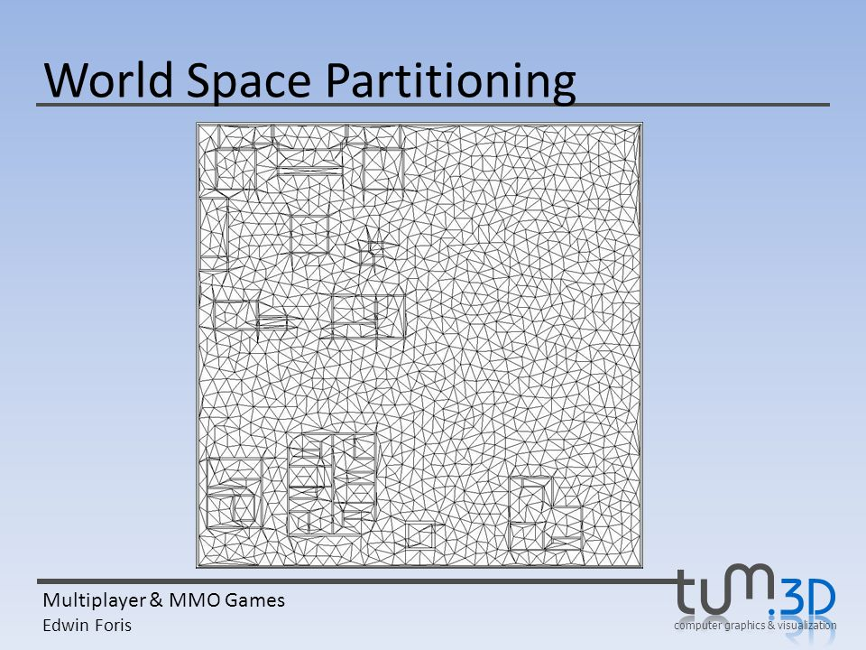 computer graphics & visualization Multiplayer & MMO Games Edwin Foris World Space Partitioning