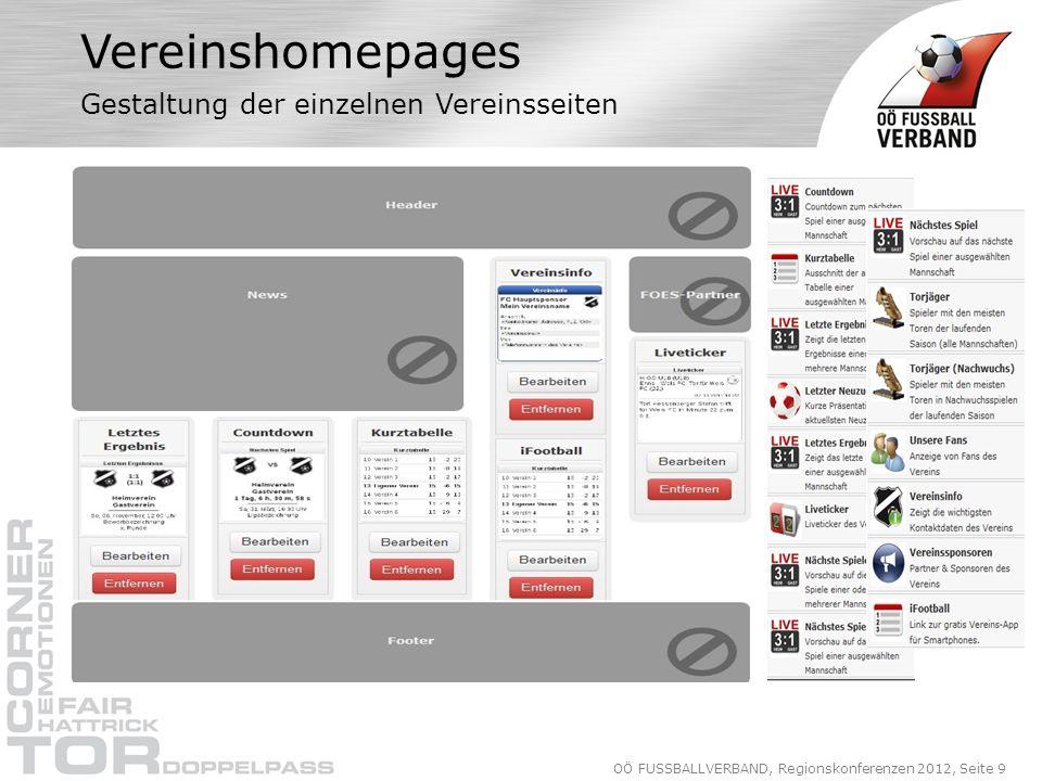 OÖ FUSSBALLVERBAND, Regionskonferenzen 2012, Seite 30 iComment Nachrichten (Post Ein- Ausgang)
