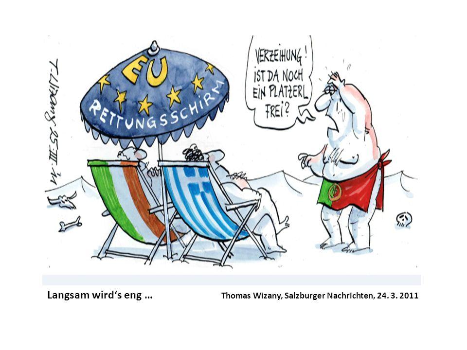 Langsam wirds eng … Thomas Wizany, Salzburger Nachrichten, 24. 3. 2011