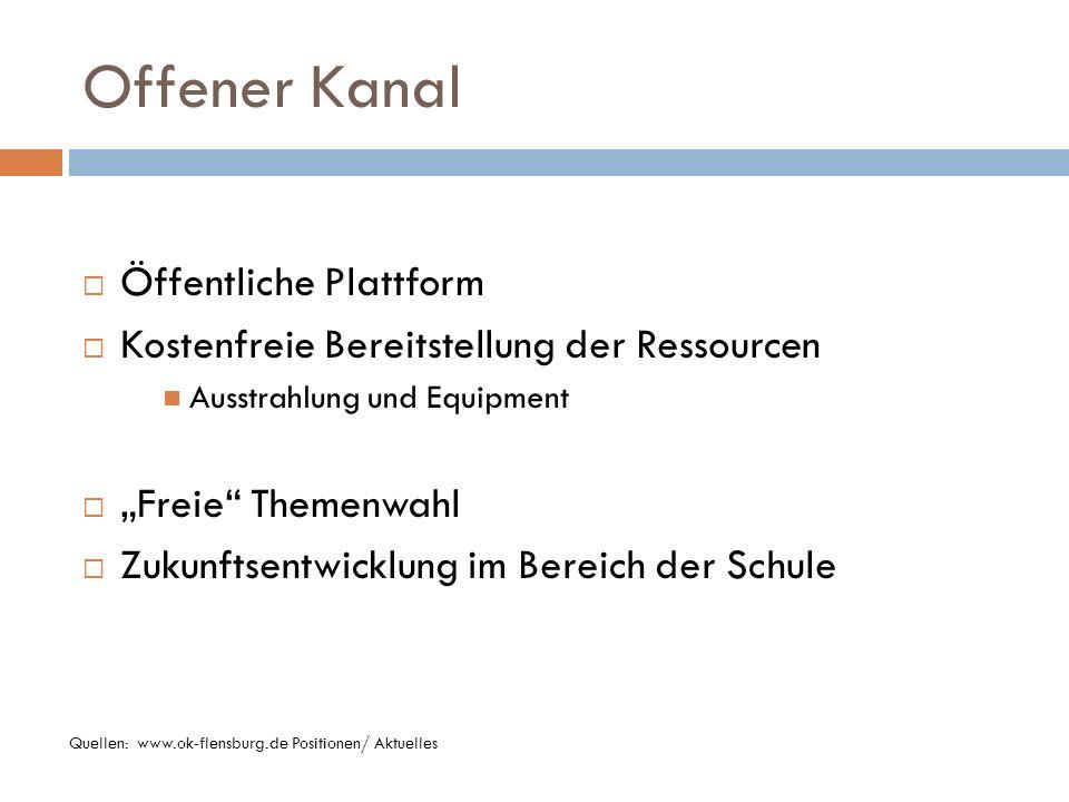 OK Flensburg Programm Quellen: www.okflensburg.de Programmübersicht