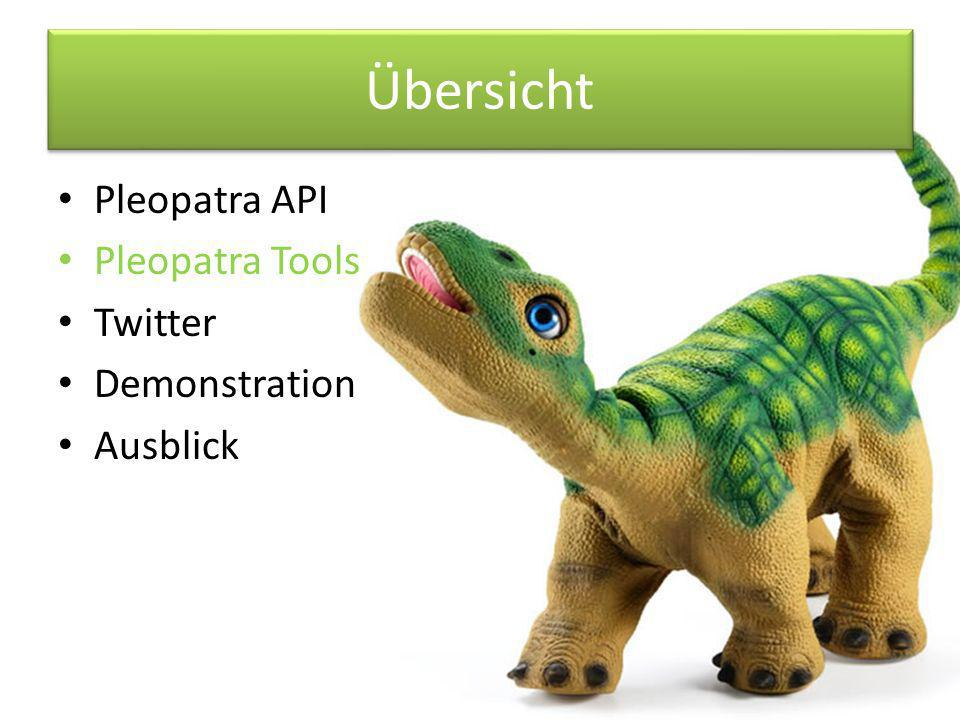 Ausblick – Twitter Individuelle Erstellung von Tweets, statt Zugriff auf eine Datenbank Integration eines Diskursgedächtnis Anbindung an die TwitPic API, um aktuelle Bilder zu veröffentlichen