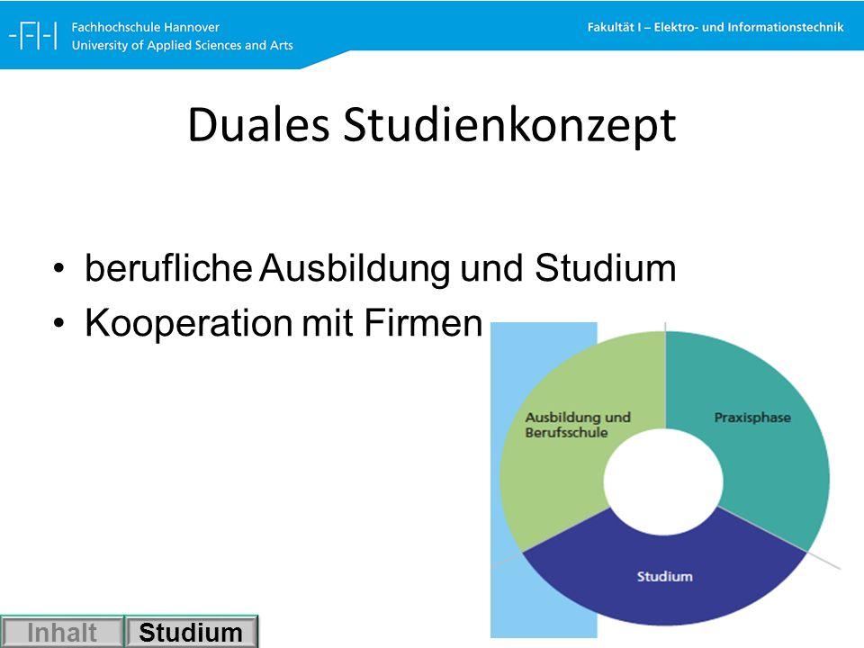 Duales Studienkonzept berufliche Ausbildung und Studium Kooperation mit Firmen Inhalt Studium