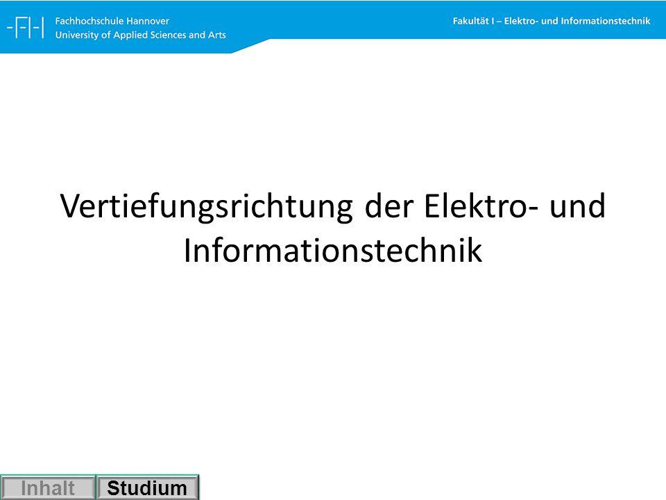 Vertiefungsrichtung Energieversorgung Charakteristische Vorlesungen: Energieerzeugung Elektrische Netze (Energieübertragung) Schaltanlagen Hochspannungstechnik Leistungselektronik Energiewirtschaft Inhalt Studium
