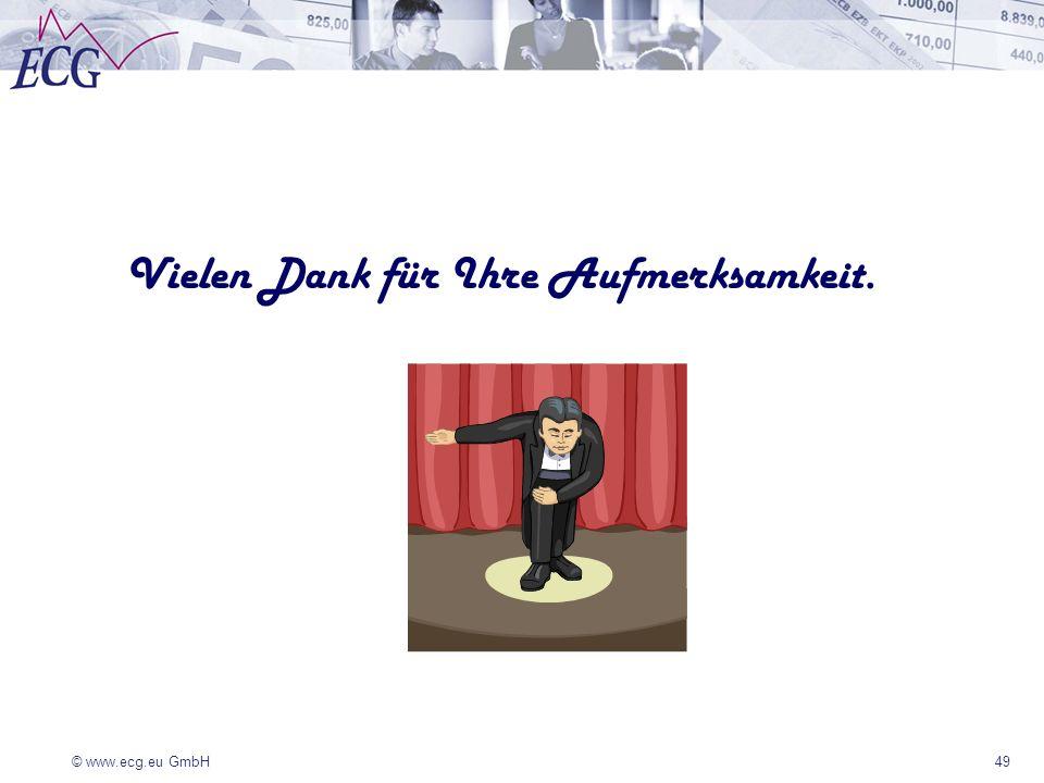 © www.ecg.eu GmbH 49 Vielen Dank für Ihre Aufmerksamkeit.