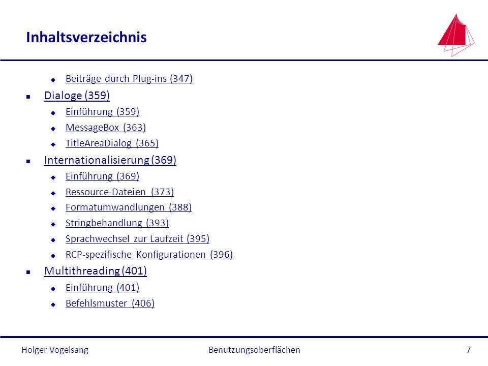 Holger Vogelsang Inhaltsverzeichnis u Beiträge durch Plug-ins (347) Beiträge durch Plug-ins (347) n Dialoge (359) Dialoge (359) u Einführung (359) Ein