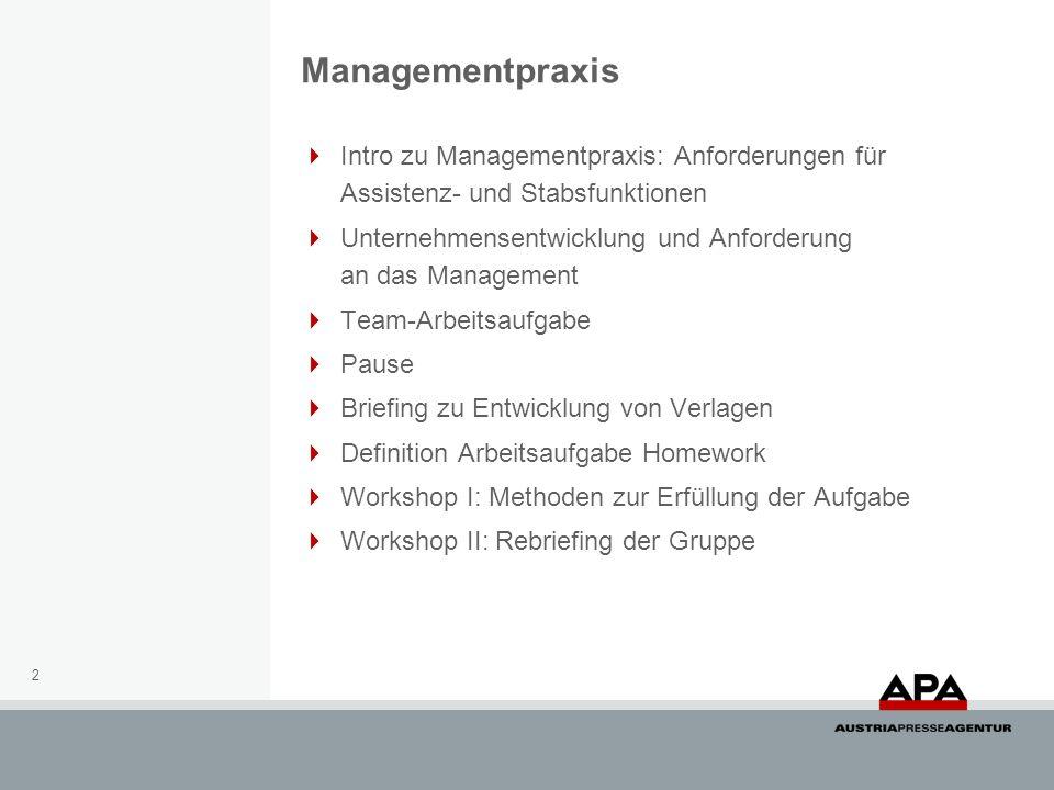 13 Mergers & Acquisitions Sie sind Assistent der Geschäftsleitung eines österreichischen Medienunternehmens.