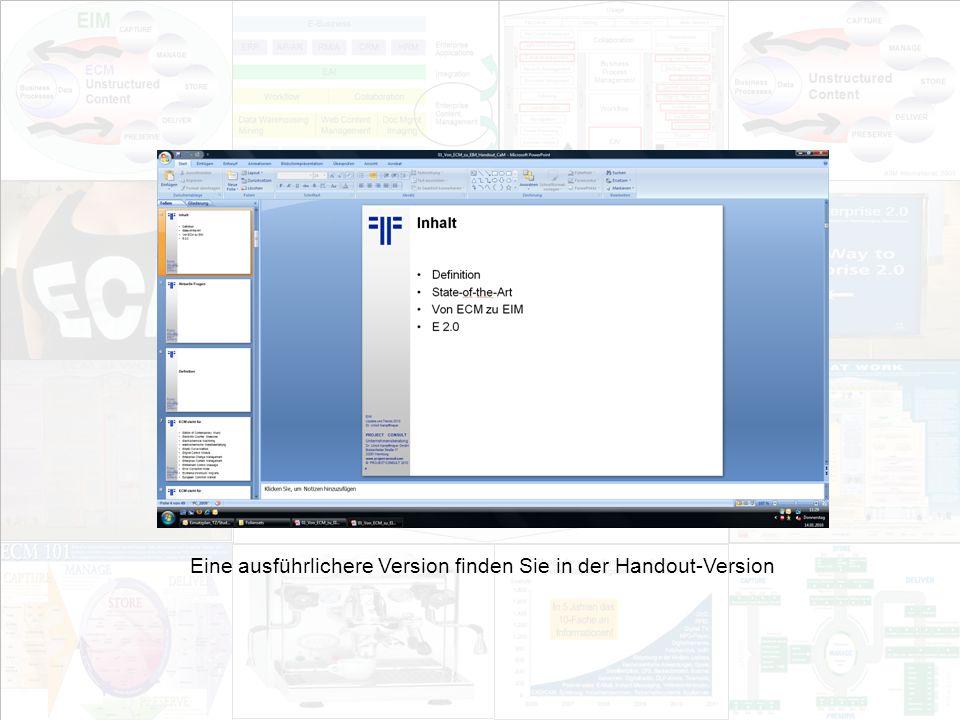4 EIM Update und Trends 2010 Dr. Ulrich Kampffmeyer PROJECT CONSULT Unternehmensberatung Dr.