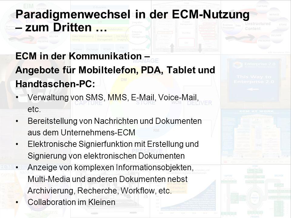 40 EIM Update und Trends 2010 Dr. Ulrich Kampffmeyer PROJECT CONSULT Unternehmensberatung Dr. Ulrich Kampffmeyer GmbH Breitenfelder Straße 17 20251 Ha