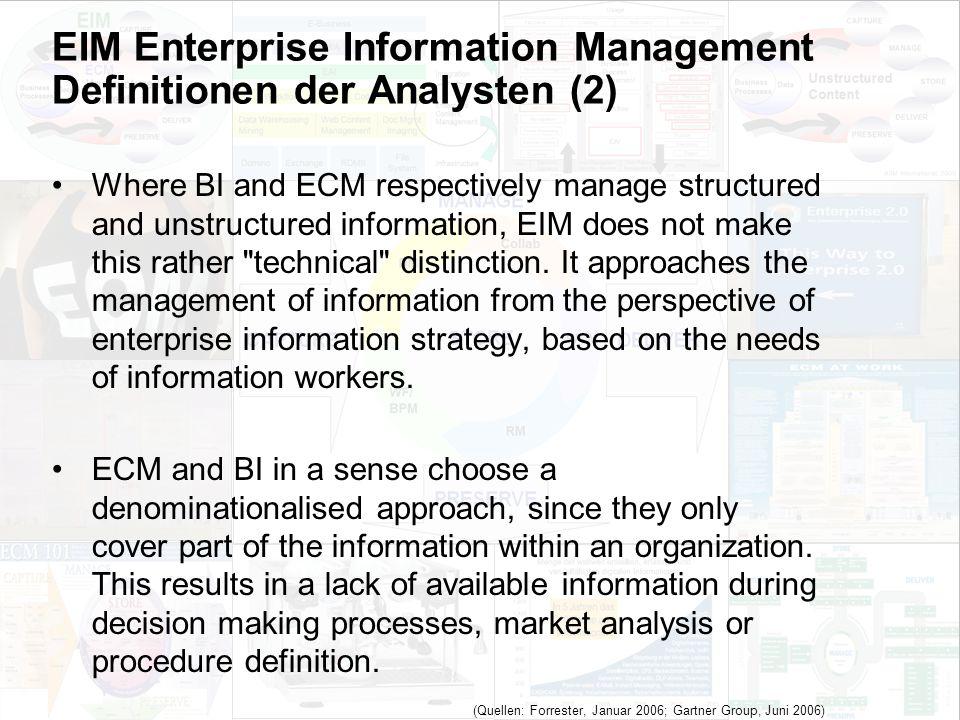 48 EIM Update und Trends 2010 Dr. Ulrich Kampffmeyer PROJECT CONSULT Unternehmensberatung Dr.