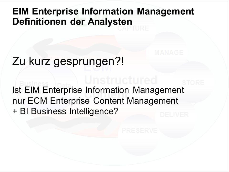49 EIM Update und Trends 2010 Dr. Ulrich Kampffmeyer PROJECT CONSULT Unternehmensberatung Dr.