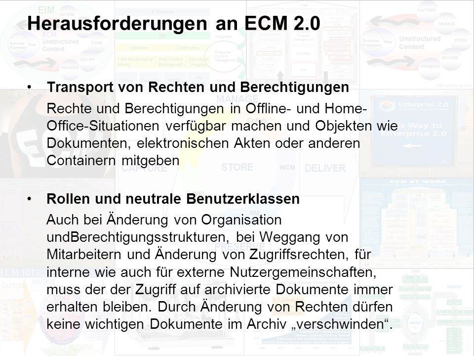 58 EIM Update und Trends 2010 Dr. Ulrich Kampffmeyer PROJECT CONSULT Unternehmensberatung Dr.