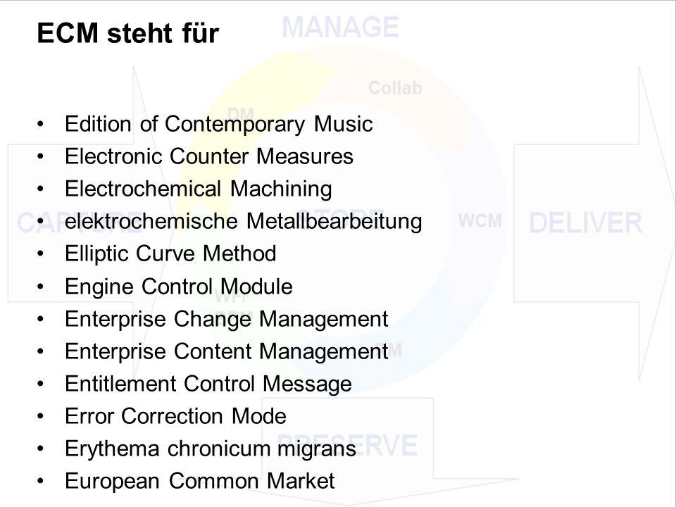 20 EIM Update und Trends 2010 Dr.Ulrich Kampffmeyer PROJECT CONSULT Unternehmensberatung Dr.