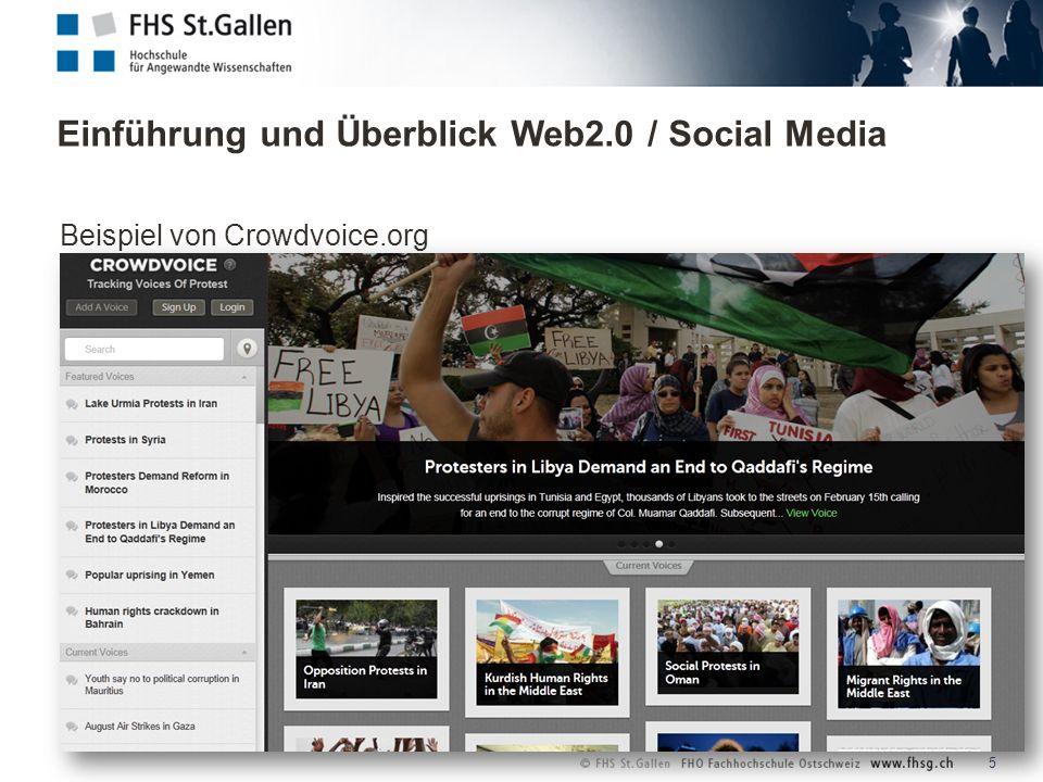 Einführung und Überblick Web2.0 / Social Media 6 Wie lange hat es gedauert, um 100 Millionen Menschen zu erreichen?