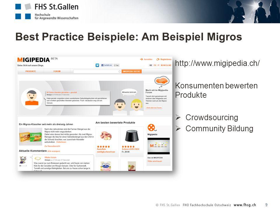 Resultate / Die Plattform: www.i-collaboration.ch 20