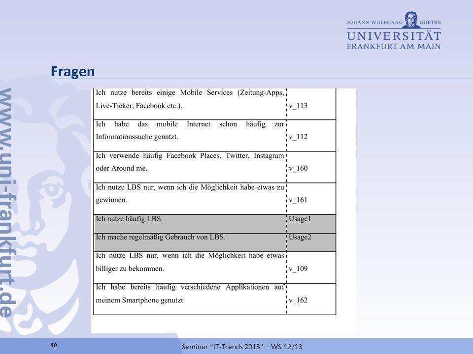 Seminar IT-Trends 2013