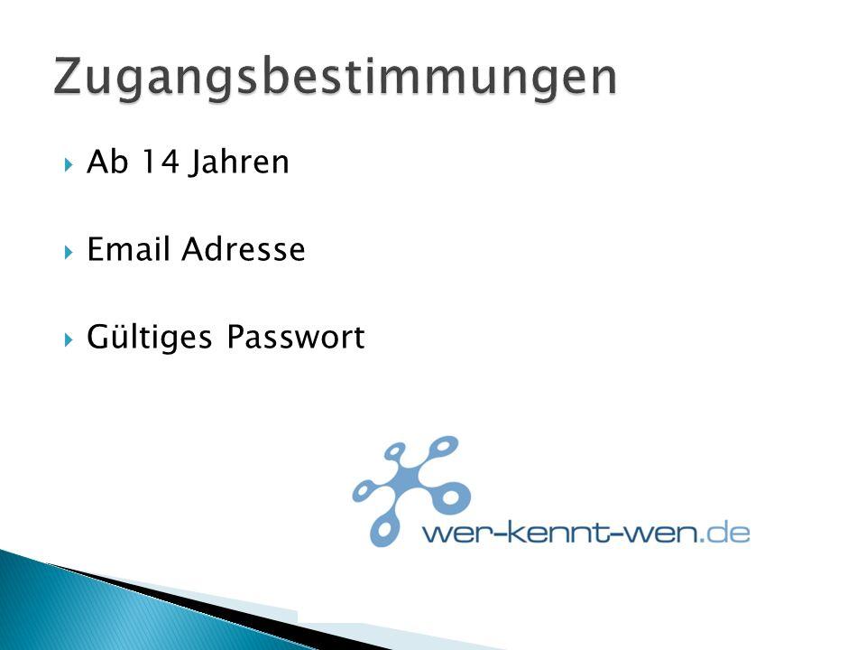 Ab 14 Jahren Email Adresse Gültiges Passwort