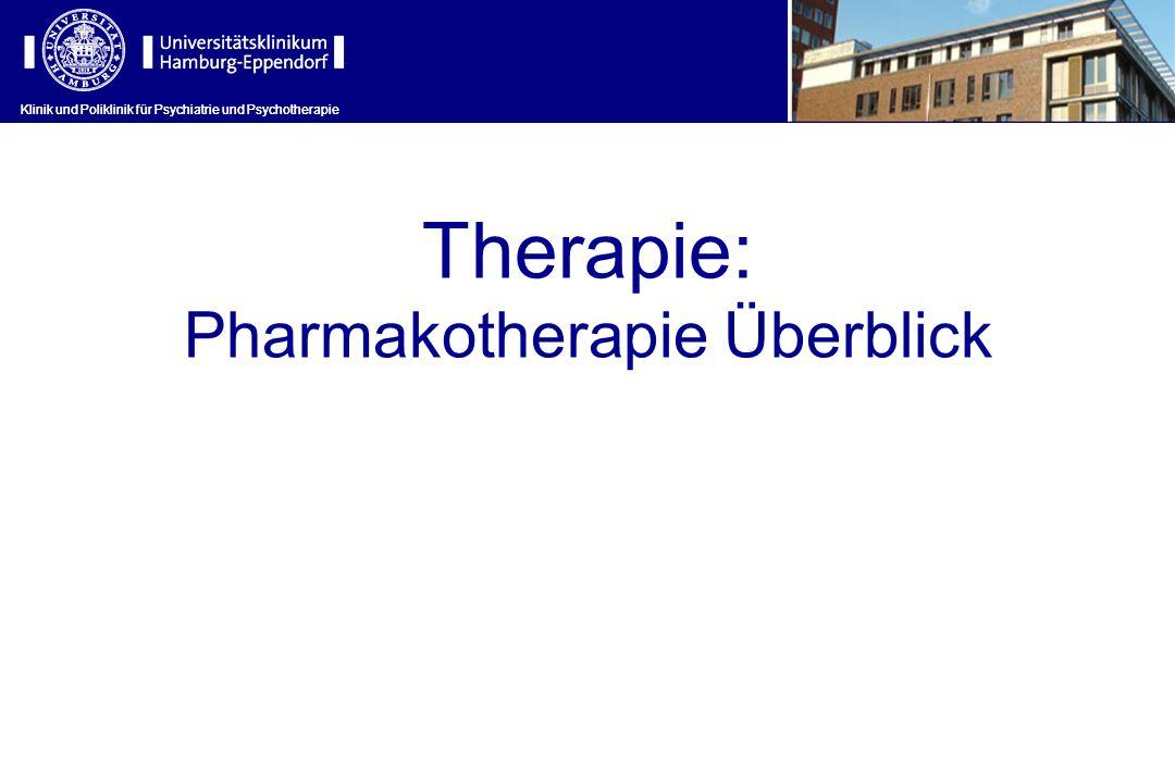 Klinik und Poliklinik für Psychiatrie und Psychotherapie Therapie: Pharmakotherapie Überblick Klinik und Poliklinik für Psychiatrie und Psychotherapie