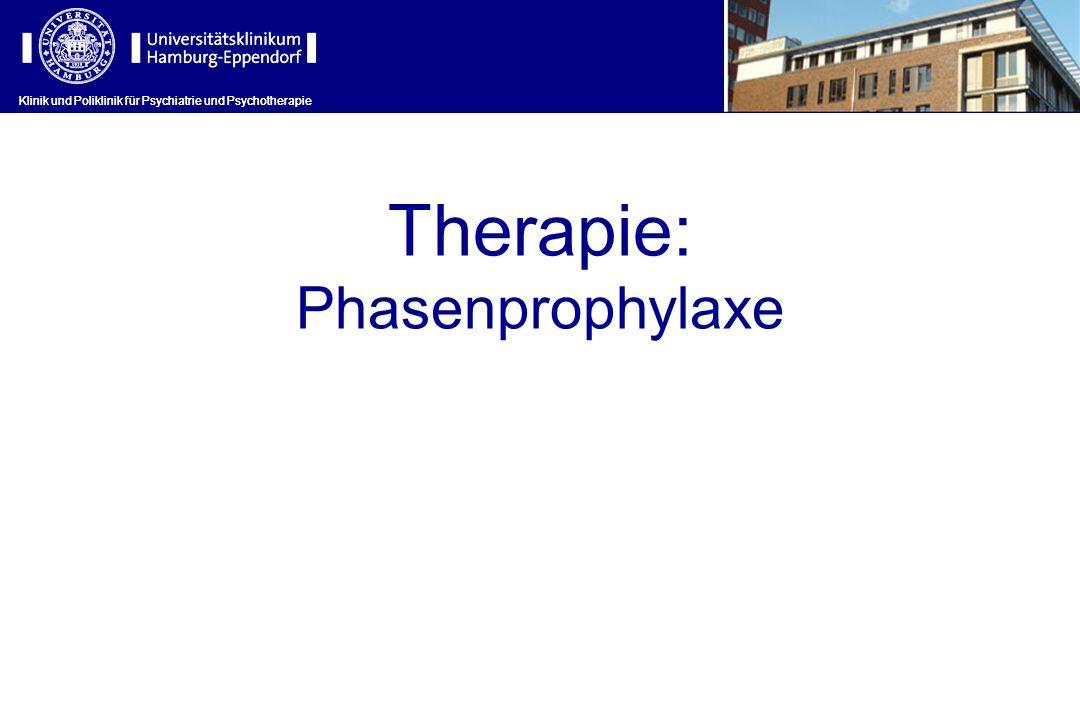 Klinik und Poliklinik für Psychiatrie und Psychotherapie Therapie: Phasenprophylaxe Klinik und Poliklinik für Psychiatrie und Psychotherapie