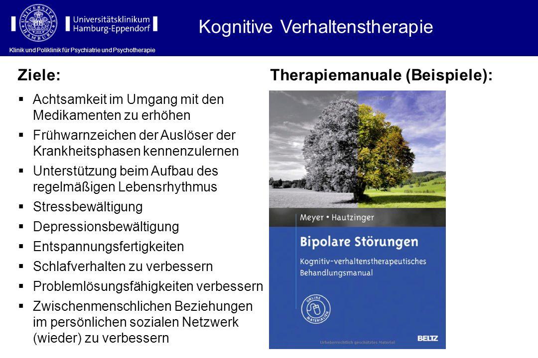 Klinik und Poliklinik für Psychiatrie und Psychotherapie Kognitive Verhaltenstherapie Klinik und Poliklinik für Psychiatrie und Psychotherapie Therapi