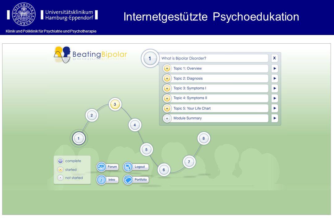 Klinik und Poliklinik für Psychiatrie und Psychotherapie Internetgestützte Psychoedukation Klinik und Poliklinik für Psychiatrie und Psychotherapie